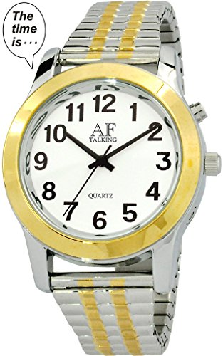 2 nd Generation Talking Watch Herren zweifarbig Alarm day date Low Vision Metall Talking Watch atk358g 03 M106