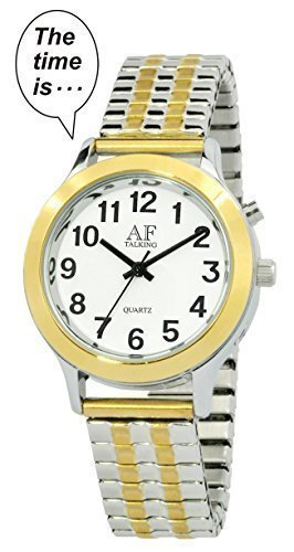 Talking Watch 2 nd Generation Frauen S Bicolor Alarm Low Vision Metall Talking Watch atk358l02 M106