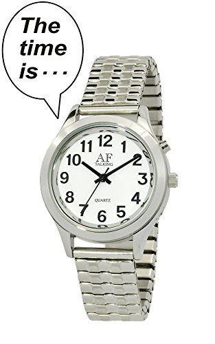 Talking Watch 2 nd Generation Frauen S silberfarbenes Alarm Low Vision Metall Talking Watch act tk34 a352g 02 M106