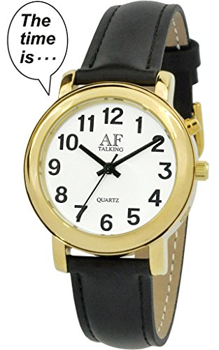Talking Watch 2 nd Generation Senses Herren S goldfarbene Alarm Low Vision Metall Talking Watch act tk34 a350g 02 M106