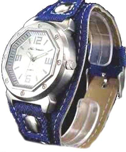 Damenjeansuhr blue silver