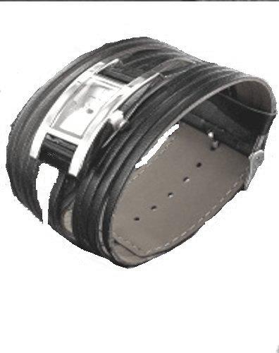 Lederbaender Breitband Girlswatch black silver