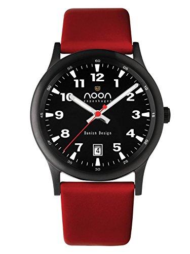 noon copenhagen Unisex Armbanduhr Design rot 74002L3