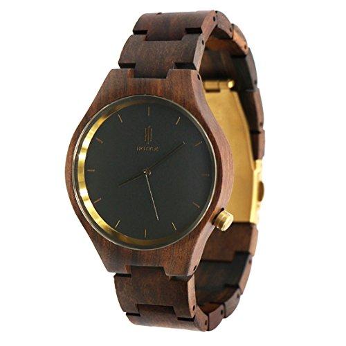 Hstyle Unisex Armbanduhr handgefertigt Chacate Glas Schwarz