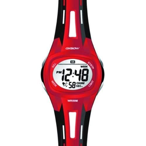 Oxbow Jungen-Armbanduhr Digital Kautschuk rot 4515603