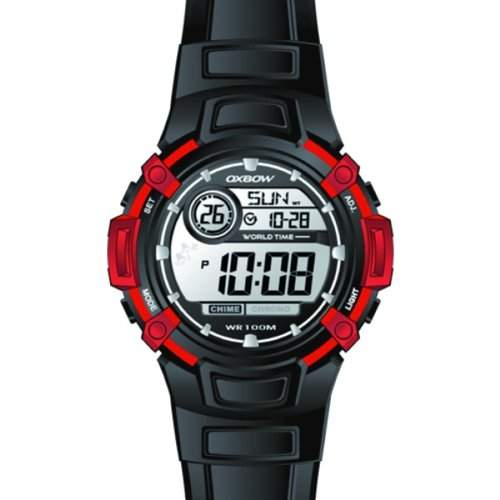 Oxbow Jungen-Armbanduhr Digital Kautschuk schwarz 4517402