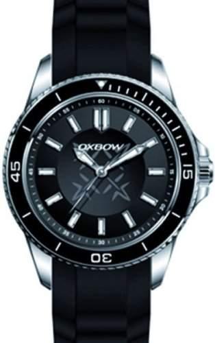 OXBOW-4549701-Armbanduhr-Quarz Analog-Zifferblatt Armband Gummi schwarz