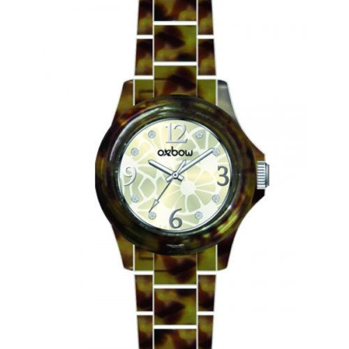 OXBOW 4544002 045J699 Analog mehrfarbig Armband Kunststoff Schuppenmuster