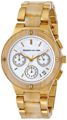 KENNETH JAY LANE DAMEN 38MM MINERAL GLAS DATUM UHR 2140