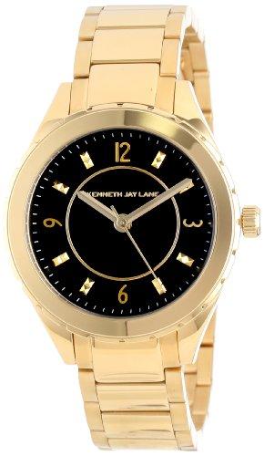 Kenneth Jay Lane 2200 Series 36mm Armband Edelstahl Gold Gehaeuse Quarz Analog 2204