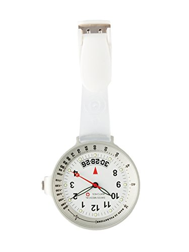 Taschenuhr Swiss Medical Care Line Clear View Silber L E