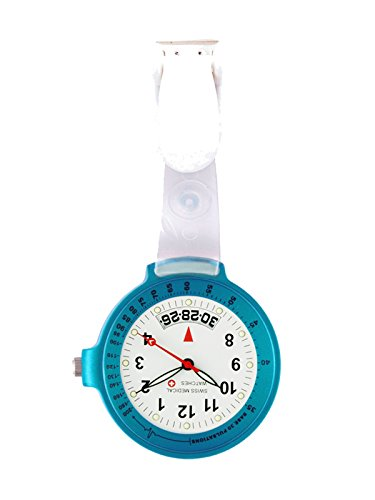 Taschenuhr Swiss Medical Care Line hellblau Gratis Gravur