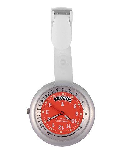 Taschenuhr Swiss Medical Professional Line silver red kostenlose Gravur