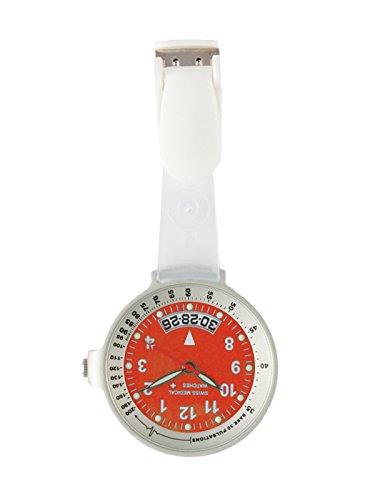 Taschenuhr Swiss Medical Care Line Silber Rot L E Gratis Gravur