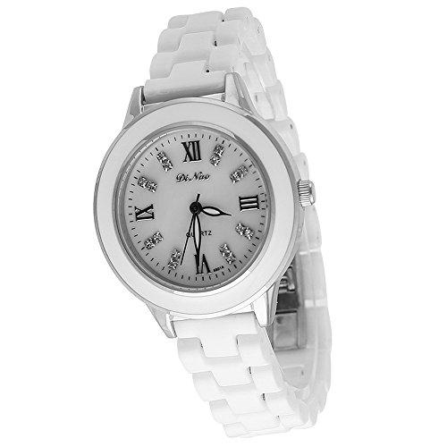 Laessige Damen Fashion Keramik Uhren fuer Frauen Armband Armbanduhr