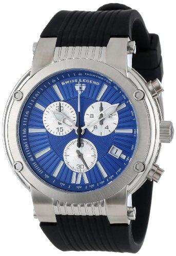 Swiss Legend sl 10006 03 sb Zeigt Herren Quartz Chronograph Armband Gummi schwarz