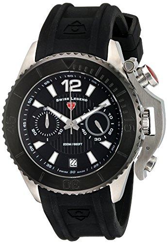 Swiss Legend Scorpion 47mm Armband Silikon Schwarz Schweizer Quarz 14018SM 01 BB