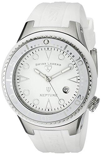 Swiss Legend sl 21848d 02 wht Armbanduhr Quarz Analog Weisses Ziffernblatt Armband Silikon weiss