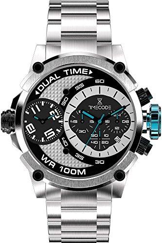 Timecode Albert 1905 fuer Maenner Armbanduhr Chronograph Dual Time Quartz TC 1003 01