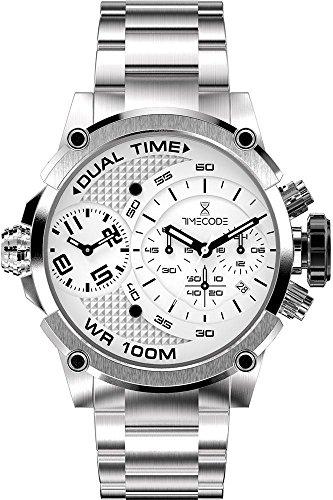 Timecode Albert 1905 fuer Maenner Armbanduhr Chronograph Dual Time Quartz TC 1003 02