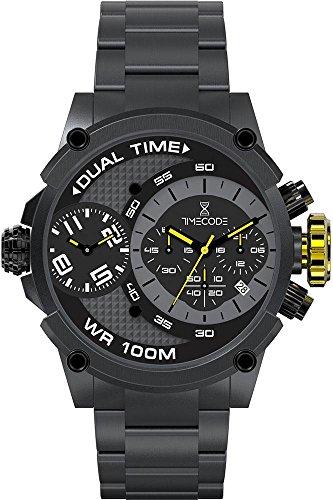 Timecode Albert 1905 fuer Maenner Armbanduhr Chronograph Dual Time Quartz TC 1003 04