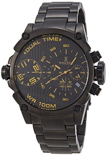 Timecode Albert 1905 fuer Maenner Armbanduhr Chronograph Dual Time Quartz TC 1003 05
