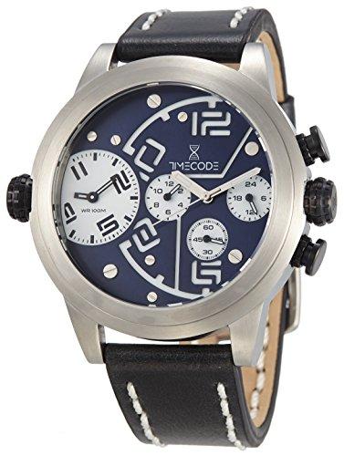 Timecode Chip 1958 fuer Maenner Armbanduhr Chronograph Dual Time Quartz TC 1001 03