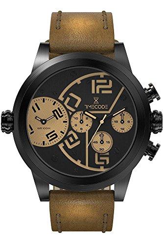 Timecode Chip 1958 fuer Maenner Armbanduhr Chronograph Dual Time Quartz TC 1001 04