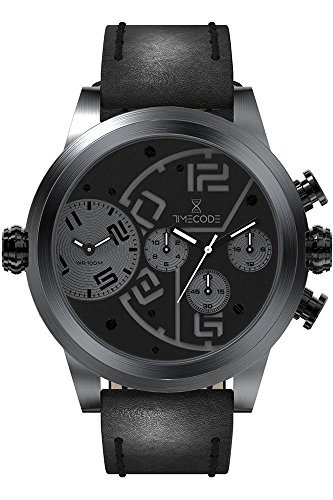 Timecode Chip 1958 fuer Maenner Armbanduhr Chronograph Dual Time Quartz TC 1001 05
