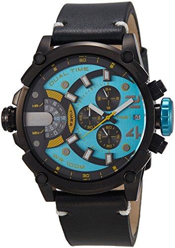 Timecode fuer Maenner Armbanduhr Chronograph Dual Time Quartz TC 1002 06