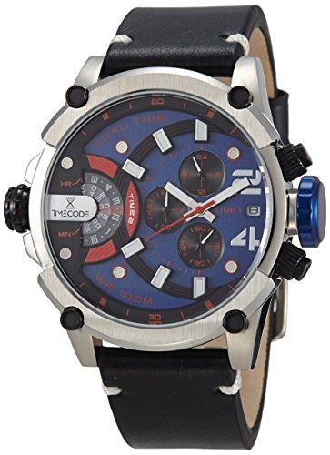 Timecode fuer Maenner Armbanduhr Chronograph Dual Time Quartz TC 1002 08