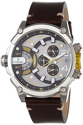 Timecode fuer Maenner Armbanduhr Chronograph Dual Time Quartz TC 1002 09