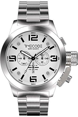 Timecode WTO 1994 fuer Maenner Armbanduhr Chronograph Quartz TC 1007 02