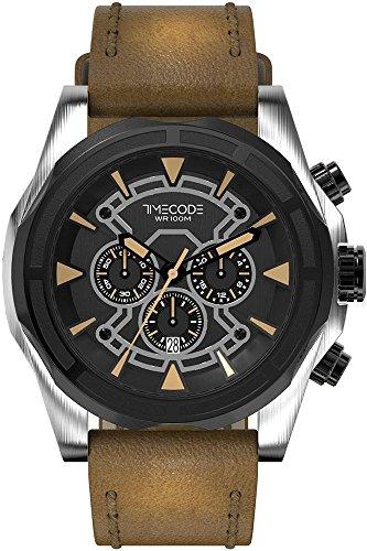 Timecode Suez 1869 fuer Maenner Armbanduhr Chronograph Quartz TC 1010 05