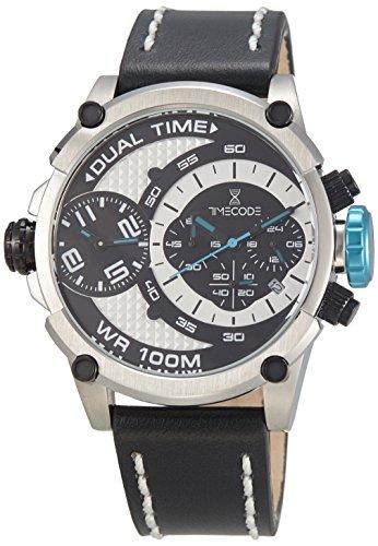Timecode Marconi 1896 fuer Maenner Armbanduhr Chronograph Dual Time Quartz TC 1002 01