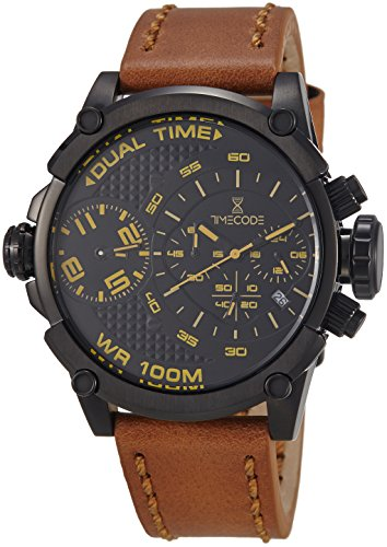 Timecode Marconi 1896 fuer Maenner Armbanduhr Chronograph Dual Time Quartz TC 1002 05