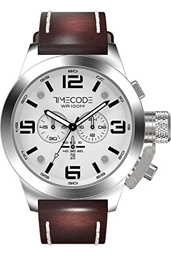 Timecode Nations 1945 fuer Maenner Armbanduhr Chronograph Quartz TC 1008 02