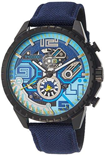 Timecode Quantum fuer Maenner Armbanduhr Chronograph Quartz TC 1013 02