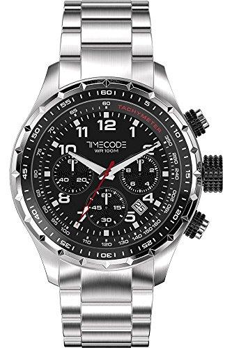 Timecode Sputnik 1957 fuer Maenner Armbanduhr Chronograph Quartz TC 1011 01