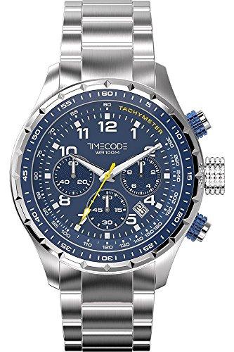 Timecode Sputnik 1957 fuer Maenner Armbanduhr Chronograph Quartz TC 1011 03