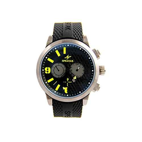 Armbanduhr Stil Armband Silikon Schwarz Speatak 2825