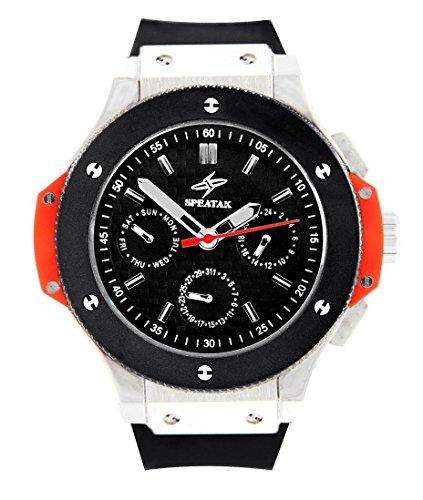 Armbanduhr Herren Luxus Armband Silikon Schwarz Speatak 1291