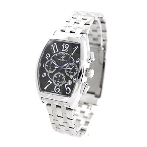 Armbanduhr mit Chrono Armband Stahl Speatak 443