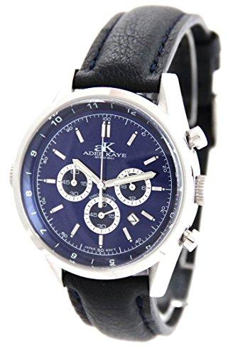 Armbanduhr mit Chrono MVT Citizen Leder schwarz Speatak 2981