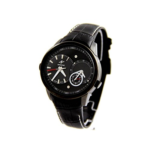 Armbanduhr Herren dble cadran Armband Leder schwarz Speatak 2903