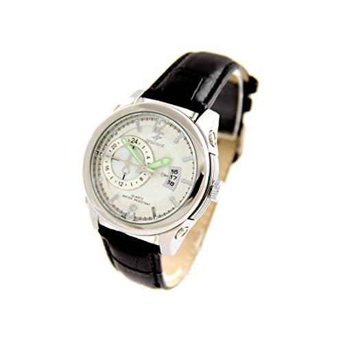 Armbanduhr mit Leder schwarz Speatak 2485