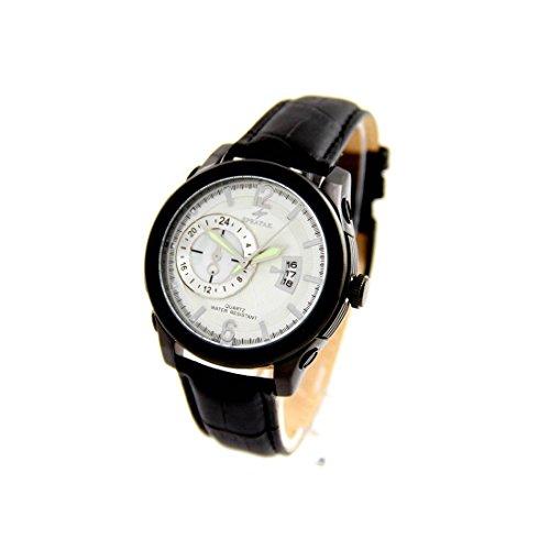 Armbanduhr mit Leder schwarz Speatak 2510