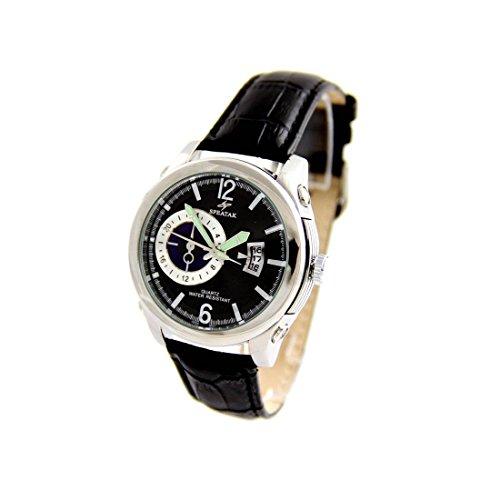 Armbanduhr mit Leder schwarz Speatak 2543