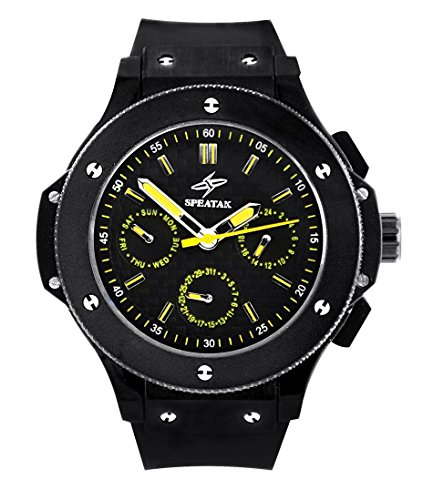 Armbanduhr Silikon schwarz Speatak 1535