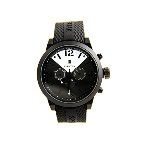 Zeigt Herren Trend Armband Silikon Schwarz Speatak 2803